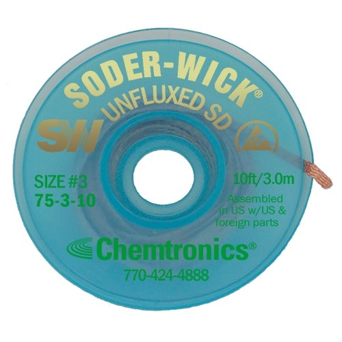 Soder-Wick Unfluxed - 75-3-10